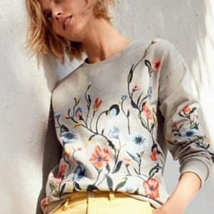 《Anthropologie • Sundry》Embroidered Sweatshirt